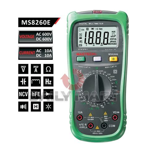 how to check inductor on multimeter mastech ms8260e lcr meter digital lcr inductance multimeter with ncv dmm ebay
