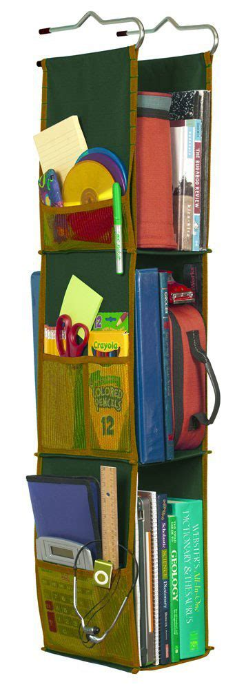 hanging locker shelves green in locker organizers