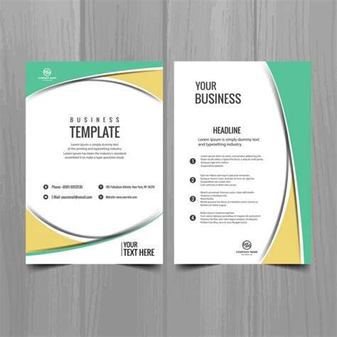 free company brochure template geometric business brochure template vector free