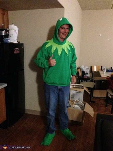 kermit  frog homemade halloween costume photo