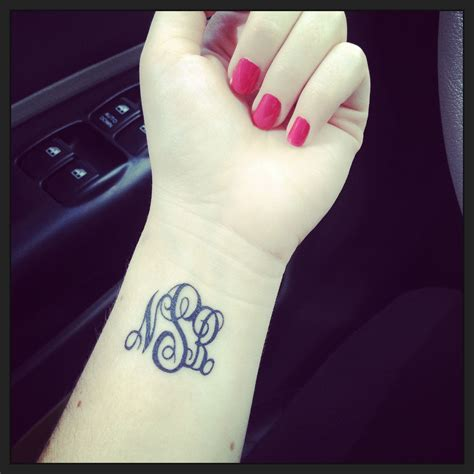 initials tattoos on wrist 7 times the monogram trend went far tattoos