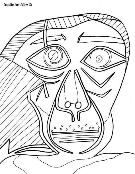 printable art works famous art work coloring pages classroom doodles