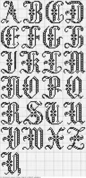 Bathroom Cross Stitch Patterns Free Free Cross Stitch Alphabet X Stitch Pinterest