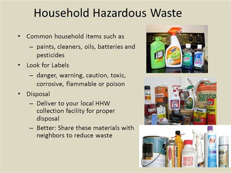 hazardous household products solid waste disposal the 3r s ppt download