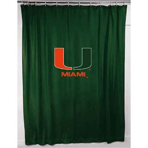 locker room shower curtains miami hurricanes um locker room shower curtain