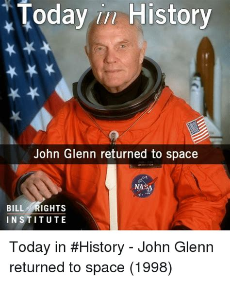 today history john glenn returned to space bill rights