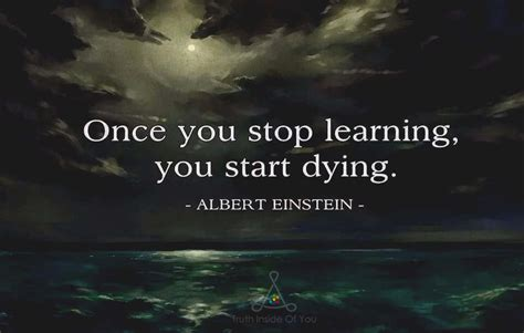 Starts To Detox Once You Stop by Once You Stop Learning You Start Dying Albert Einstein