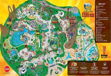map of six flags six flags great america amusement park photos wypages