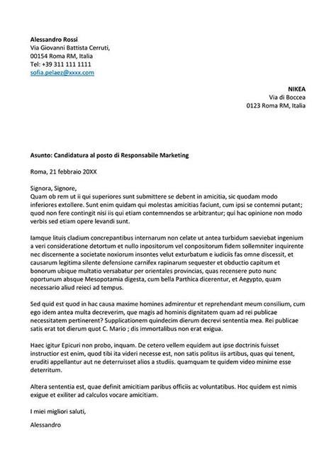 lettere di autocandidatura esempio lettera di presentazione autocandidatura lettera