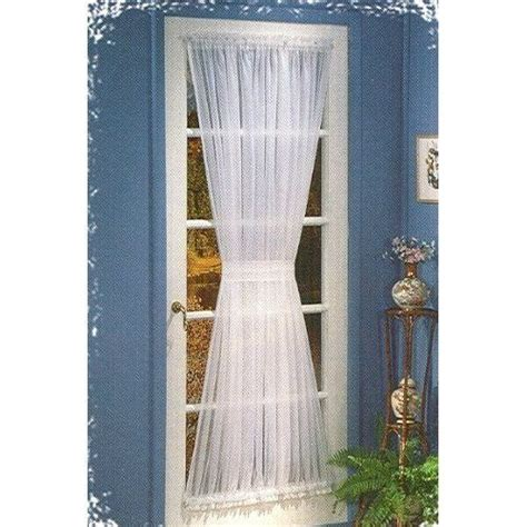 stylemaster curtains elegance sheer voile white 72 quot door panel with tie back by