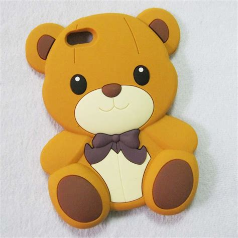 Iphone 5 5s 5se 3d Teddy Brown Soft Silicone Tpu Armor 3d teddy silicone soft cover skin for
