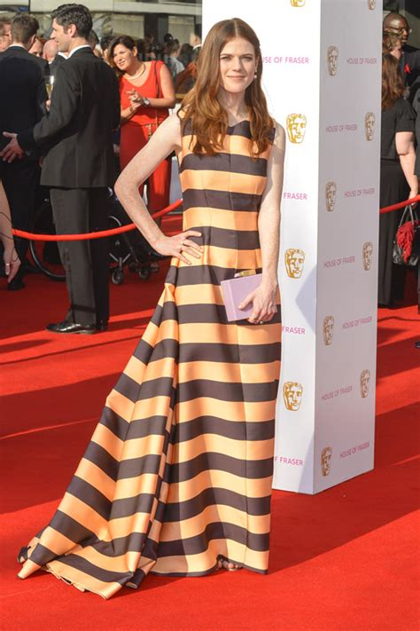 bafta 2016 awards bafta red rose leslie in emilia wickstead at the 2016 british