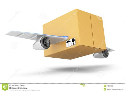 Wings Box Flying Cardboard Box Stock Illustration Image Of