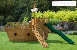 Pirate Ship Backyard Playset Front Yard Swing Designs Home 187 Outdoor Wooden Playsets