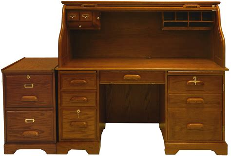 wooden roll top desk 59 quot w oak roll top computer desk in stock