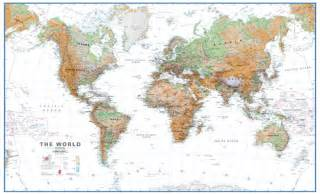 Large World Map For Wall by Extra Large World Wall Map Physical White Ocean Wm914