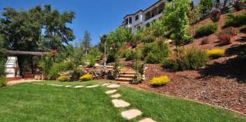 back yard steep hillside landscaping ideas photos