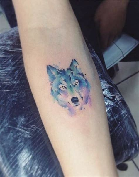 wolf wrist tattoo small watercolor wolf watercolor wolf
