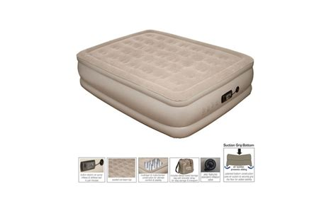 pure comfort air mattress pure comfort queen size raised air mattress with built in