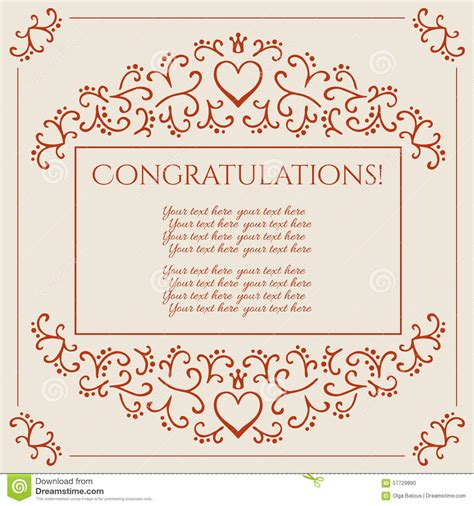 Congratulations Greeting Card Template by Congratulations Card Design Vector Illustration Stock