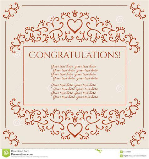 congratulations card design vector illustration stock