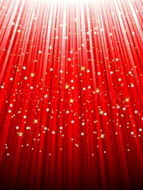 Glimmer Lights Festive Red Abstract Background With Stars Descending On