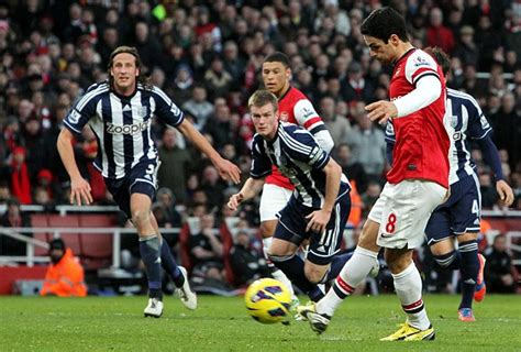 arsenal latest match arsenal 2 west brom 0 match report daily mail online