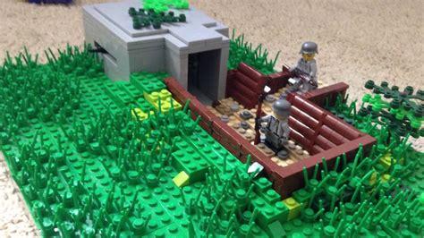 lego ww2 tutorial lego ww2 german bunker moc youtube