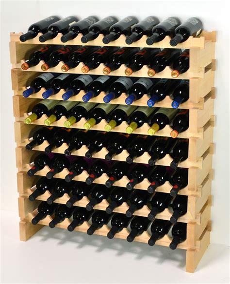 Stackable Wine Racks by Modular Stackable Wine Rack 32 96 Bottles Capacity Solid