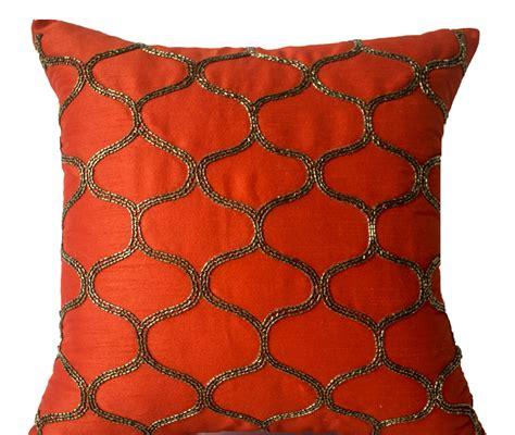 Decorative Pillows Uk by Orange Decorative Pillow Orange Silk Pillow Orange Brown