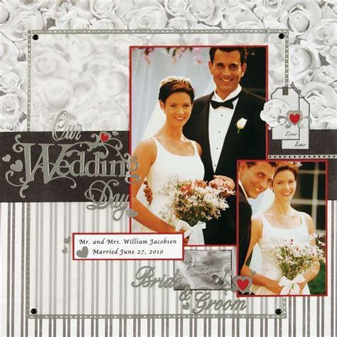 Wedding Album Scrapbook Layouts by 25 Unique Wedding Scrapbook Pages Ideas On