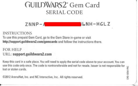 Guild Wars 2 Gift Card - buy guild wars 2 gem card 2000 scan scan discounts and download