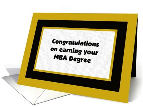 Mba Graduation Announcements Cards by Mba Degree College Graduation Card 403891