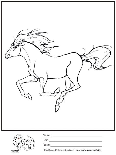 wild horse coloring page wild horse coloring pages for kids