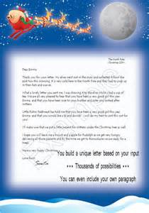 Free Santa Reply Letter Template Personalised Letters From Santa With Free Magical Reindeer