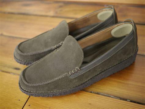 lands end loafers womens lands end leather olive green suede slip