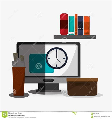 icon design office office icon design stock vector image 68378876