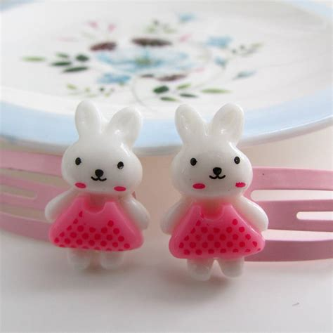 Sweet Bunny Hairclip easter bunny hair by edamay notonthehighstreet