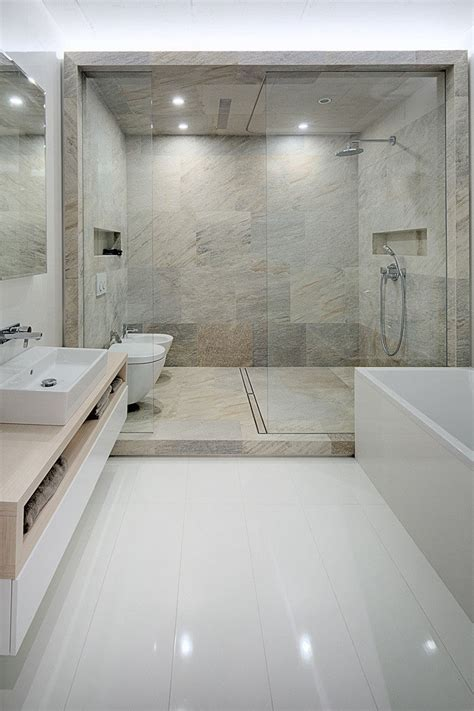 design ideas  including built  shelving   shower