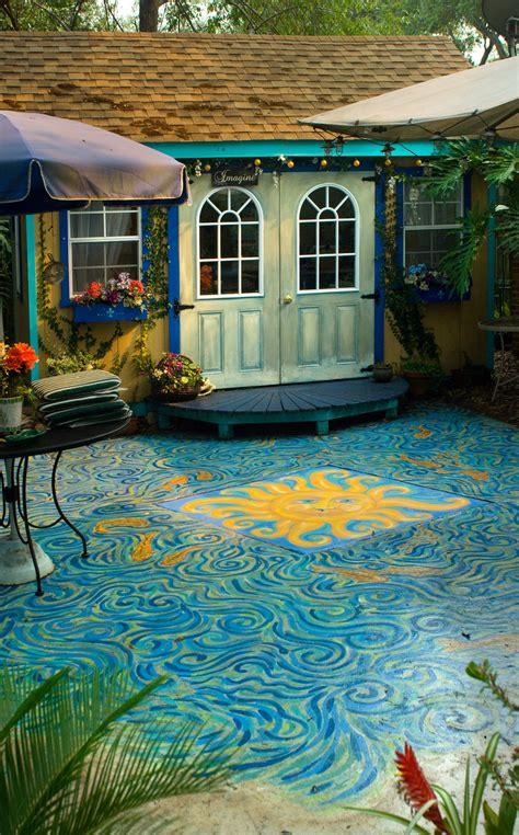 patio paint painted patio