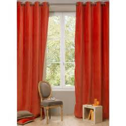 double sided velvet curtains velvet double sided eyelet curtain in terracotta and beige