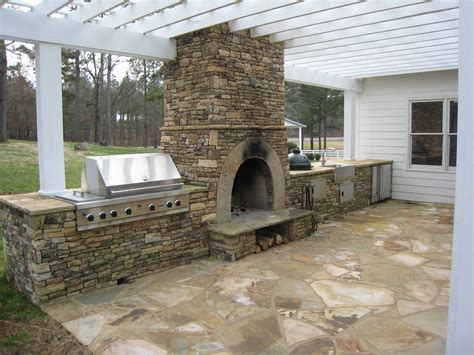 Concrete Outdoor Kitchen With Fireplace 2340 Outdoor Kitchen And Fireplace
