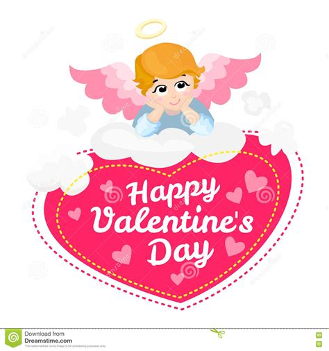 cupid valentines day baby vector character happy valentines day
