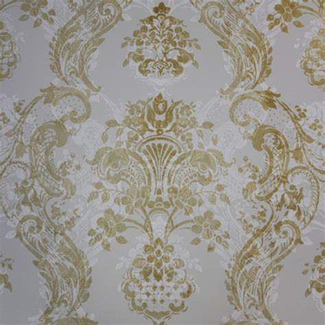 Gold And White L by L Opera White Gold Textures In Wallcovering
