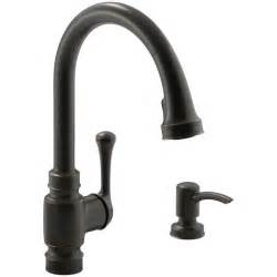 excellent kohler rubbed bronze kitchen faucet with