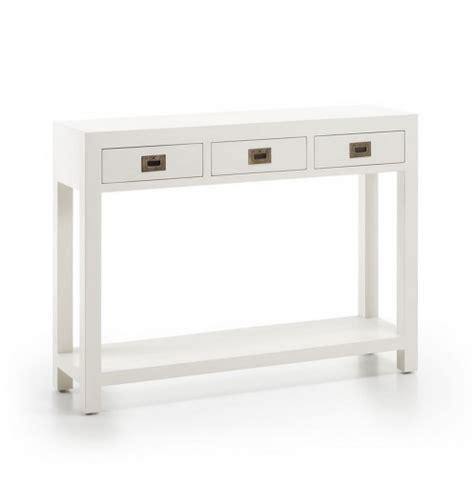 Meuble d'entrée avec tiroirs   Console blanche