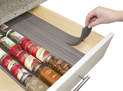 Spice Drawer Organizers by Youcopia Spiceliner Home Kitchen Drawer Spice Storage Organizer Liners 6 Pack Ebay