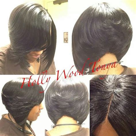 bob sew in with invisilbe part invisible part sew in soft bob hair styles pinterest