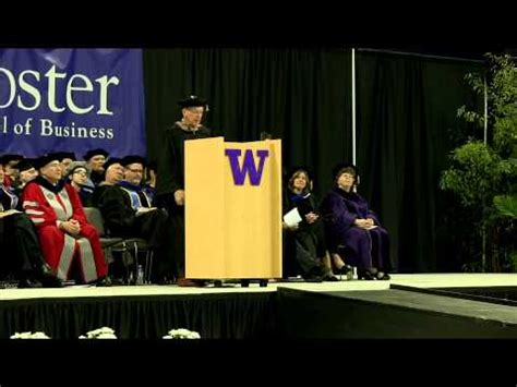Foster School Of Business Mba by Neal Dempsey S 2013 Commencement Speech Of