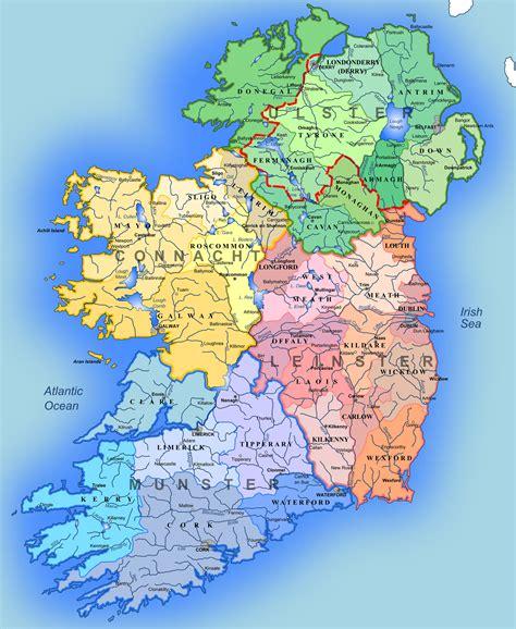 map ireland maps of ireland detailed map of ireland in tourist map of ireland road map of